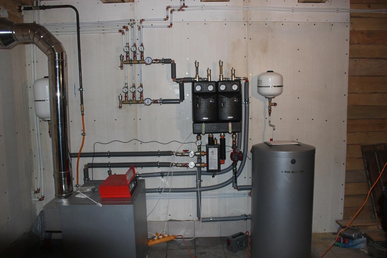 серый напольный газовый котел