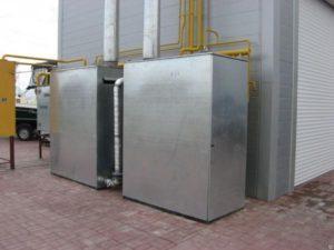 уличный газовый котел в контейнере