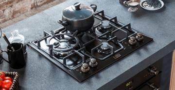 встраиваемая газовая плита на кухне
