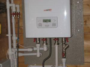установленный двухконтурный агрегат
