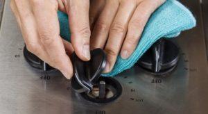 чистка ручек газовой плитки