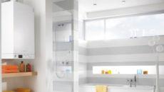 бытовой котел в ванной