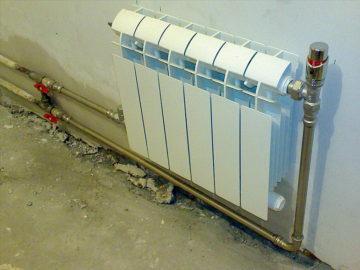 Радиатор с трубами