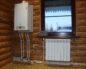 газовый агрегат в деревянном доме
