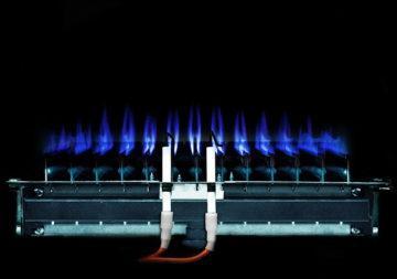 газовая горелка с синим огнем