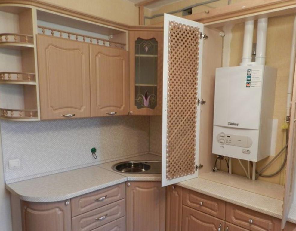 колонка в интерьере кухни