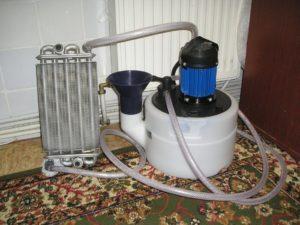 Очистка радиатора с помощью бустера