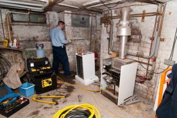 Установка газового котла в подвале
