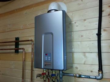 Газовая колонка в деревянном доме